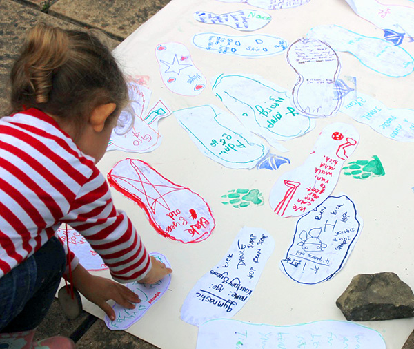 photo of children's footprints workshop