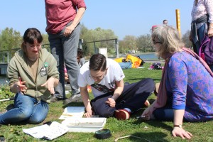 London Wildlife Trust undertake a survey of lake insect life.