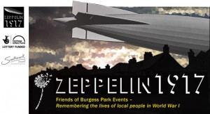 Graphic of Zeppelin over city