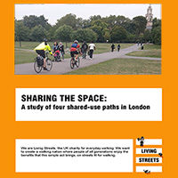 Cover of the LIving Streets pedestrian cyclist conflict report