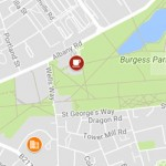 Burgess Park developments map