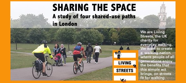 Image of Burgess Park and title from LIving Streets report March 2016