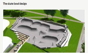 Designer image of the new skate park